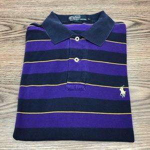 Polo Ralph Lauren Purple & Navy Stripe Shirt M